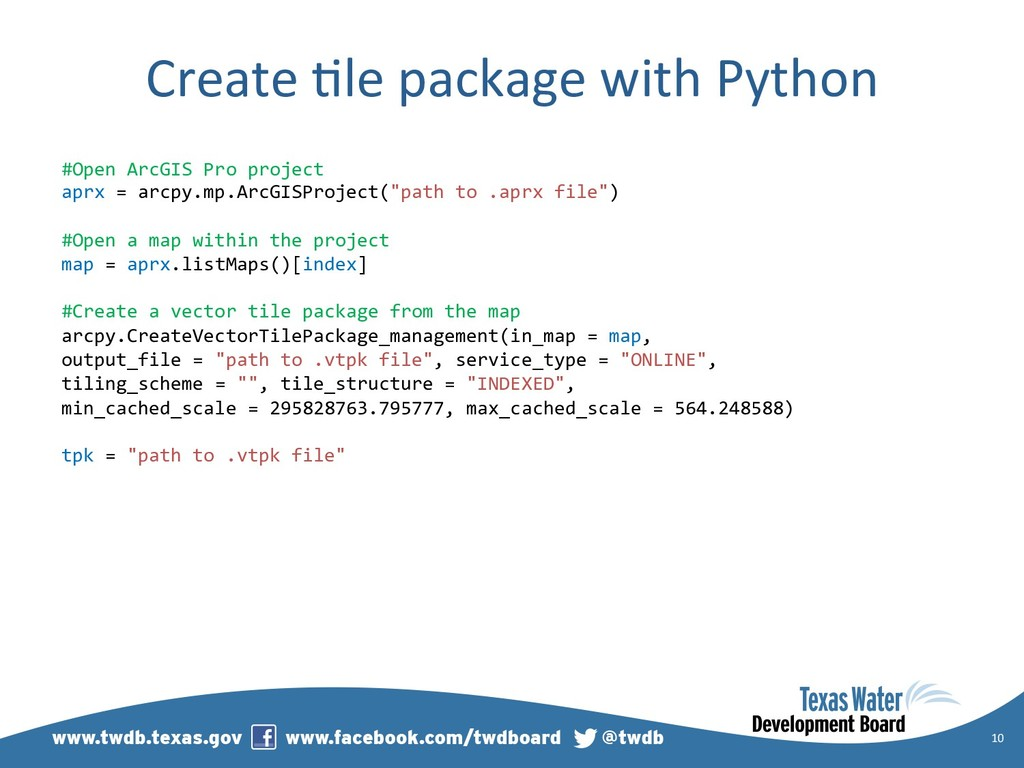 Create )le package with Python 10 #Open ArcGIS ...