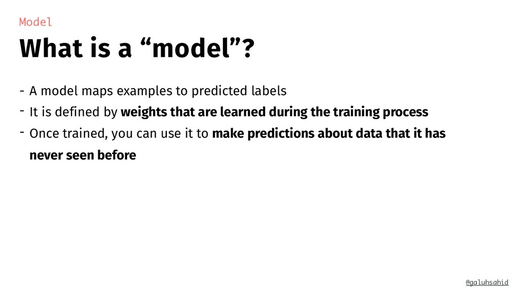 "What is a ""model""? Model - A model maps example..."