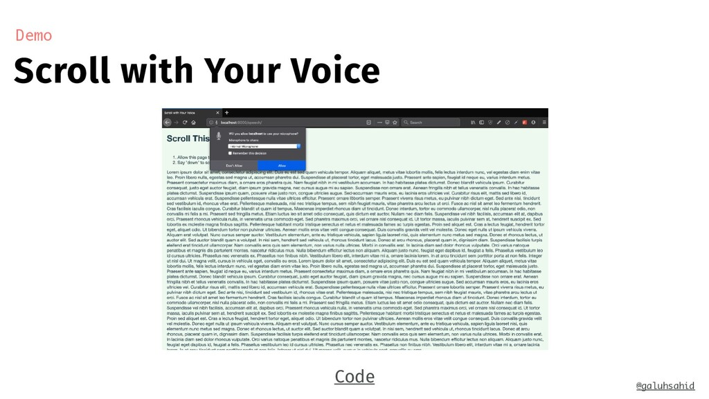 Scroll with Your Voice Demo @galuhsahid Code