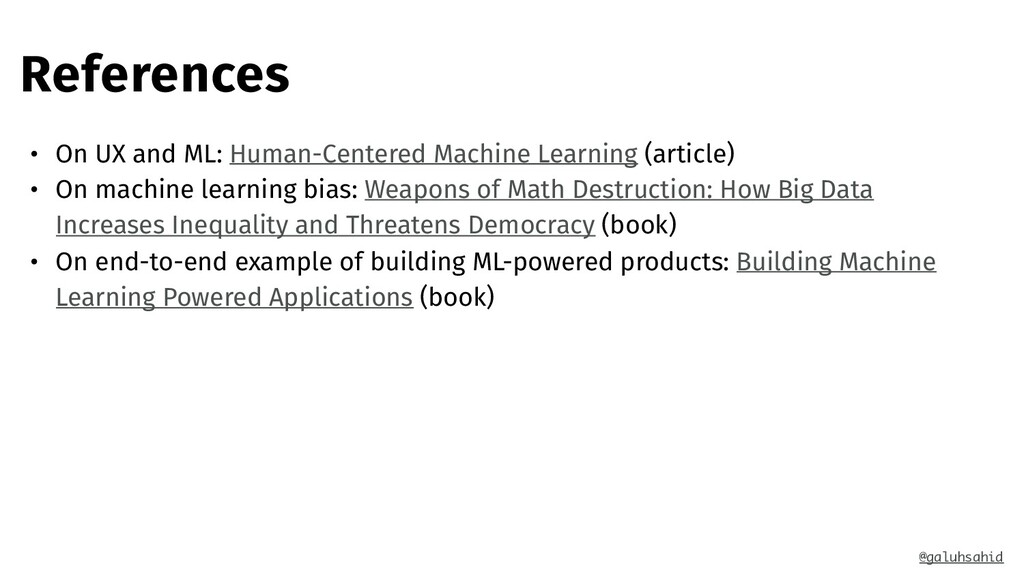 References • On UX and ML: Human-Centered Machi...