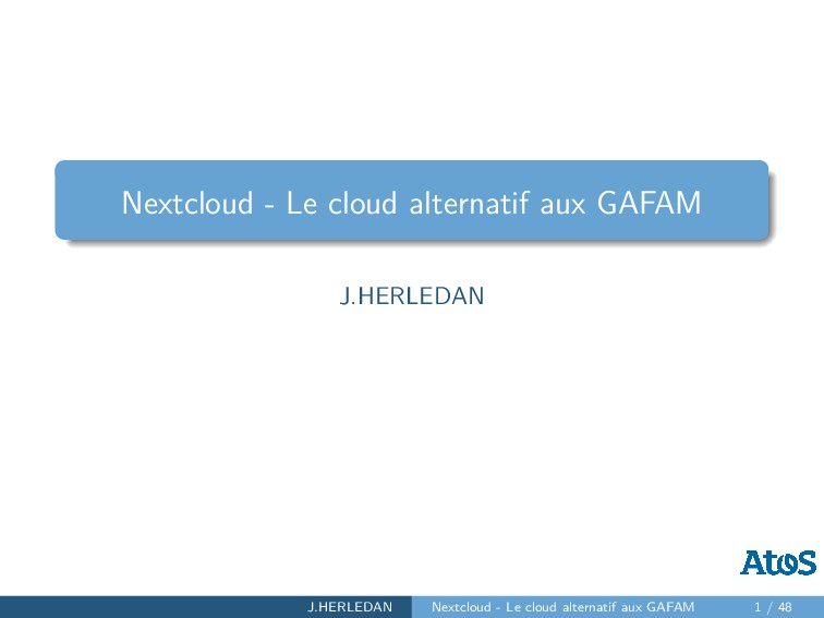 Nextcloud - Le cloud alternatif aux GAFAM J.HER...