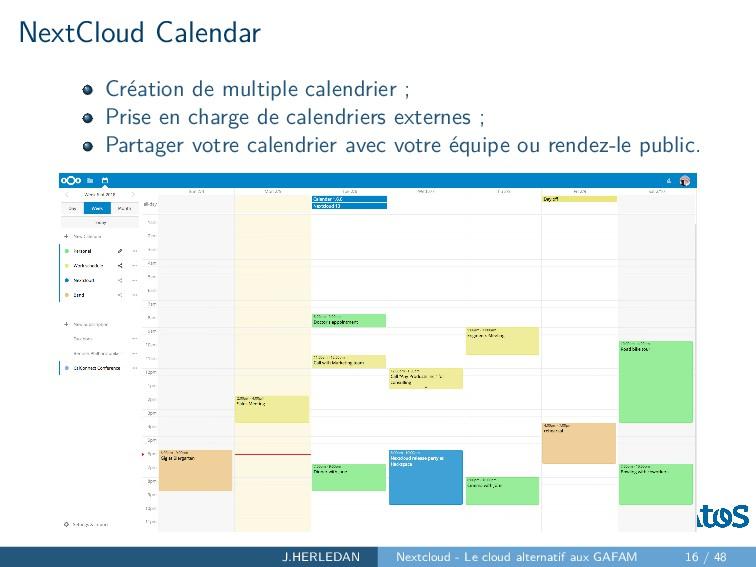 NextCloud Calendar Création de multiple calendr...