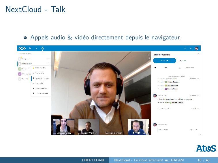 NextCloud - Talk Appels audio & vidéo directeme...