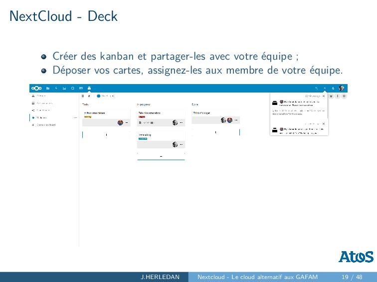 NextCloud - Deck Créer des kanban et partager-l...
