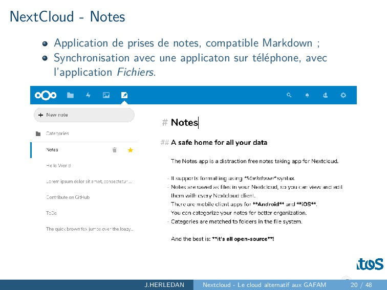 NextCloud - Notes Application de prises de note...