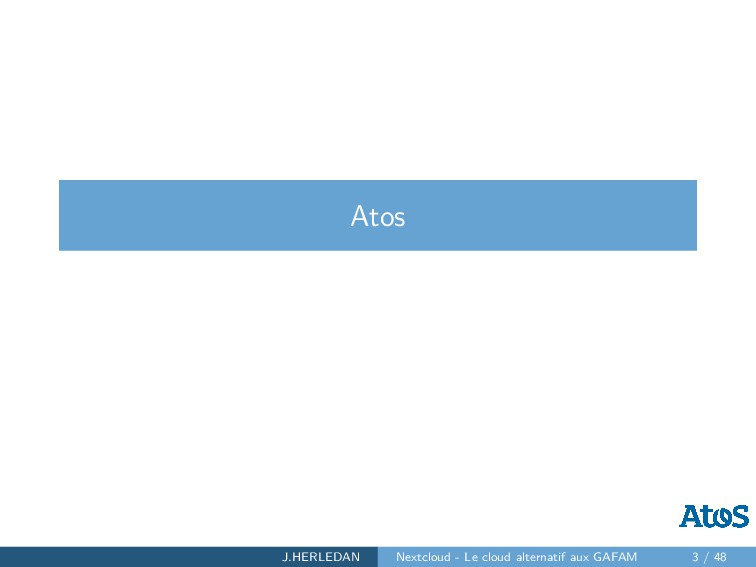 Atos J.HERLEDAN Nextcloud - Le cloud alternatif...