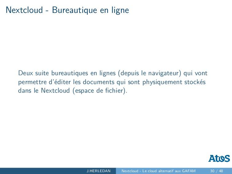 Nextcloud - Bureautique en ligne Deux suite bur...