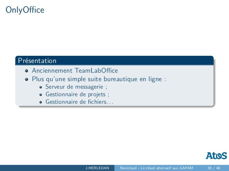 OnlyOffice Présentation Anciennement TeamLabOffice ...