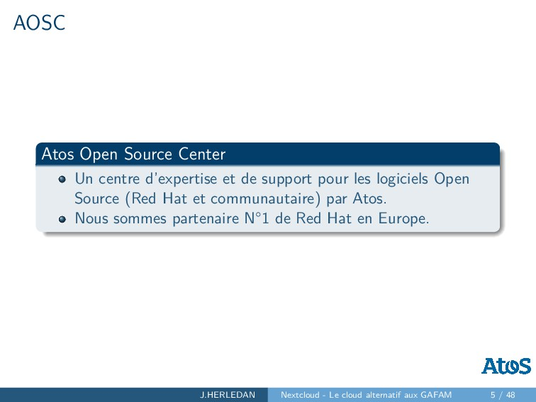 AOSC Atos Open Source Center Un centre d'expert...