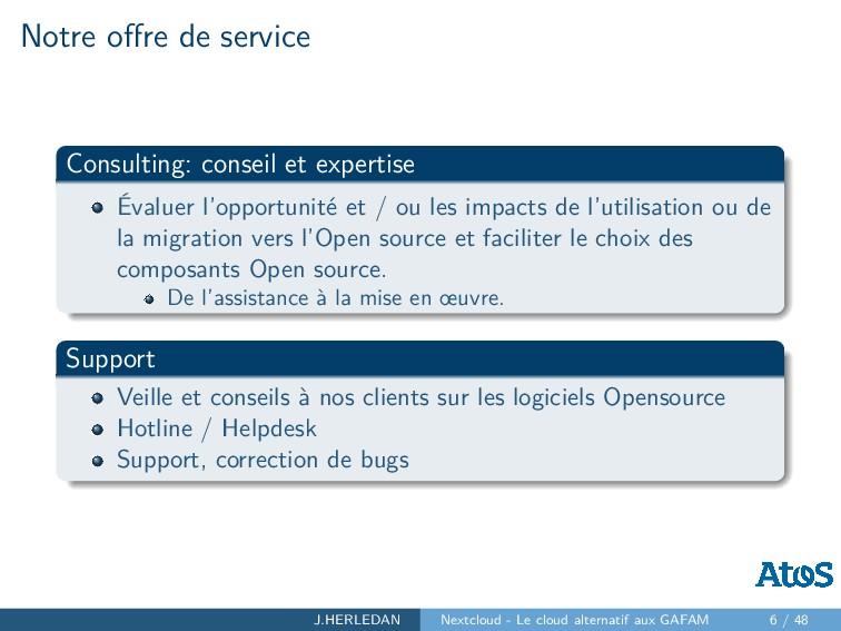 Notre offre de service Consulting: conseil et ex...