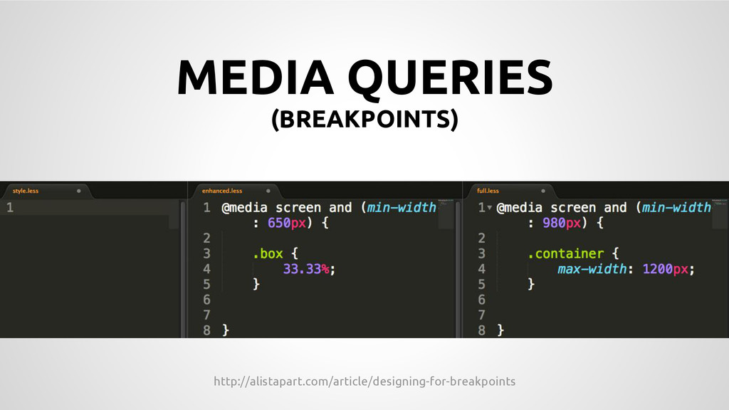 MEDIA QUERIES	
