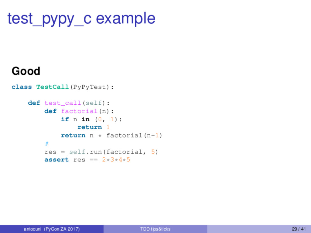 test_pypy_c example Good class TestCall(PyPyTes...