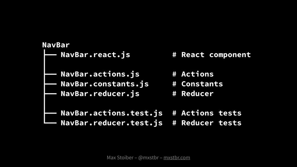 NavBar ├── NavBar.react.js # React component │ ...