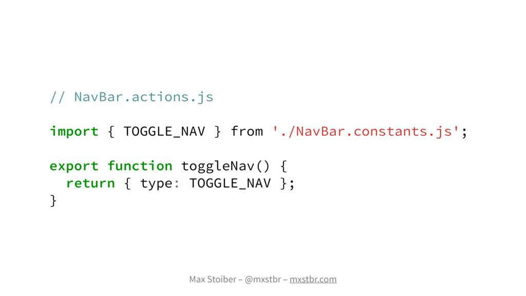 Max Stoiber – @mxstbr – mxstbr.com // NavBar.ac...