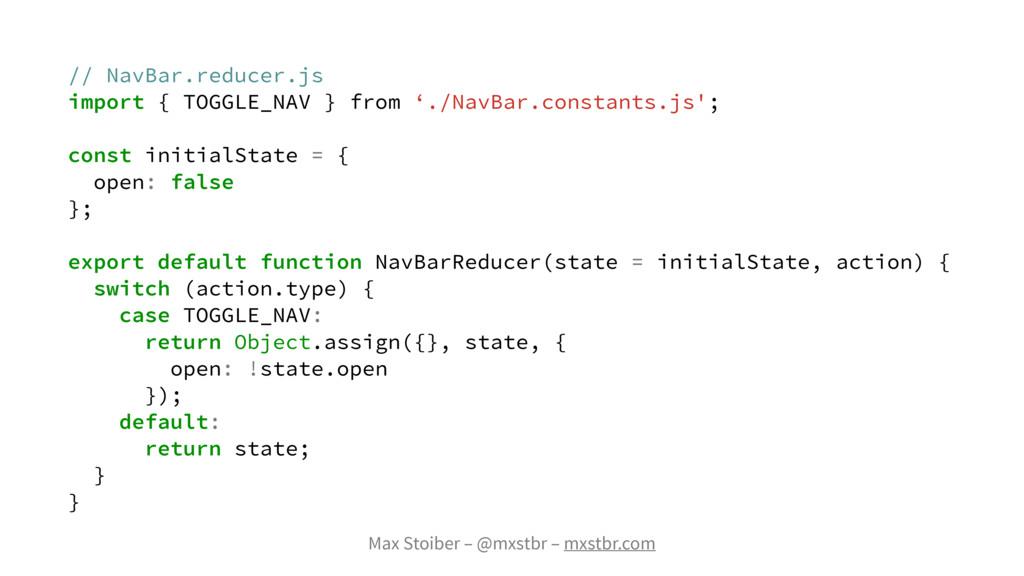 Max Stoiber – @mxstbr – mxstbr.com // NavBar.re...