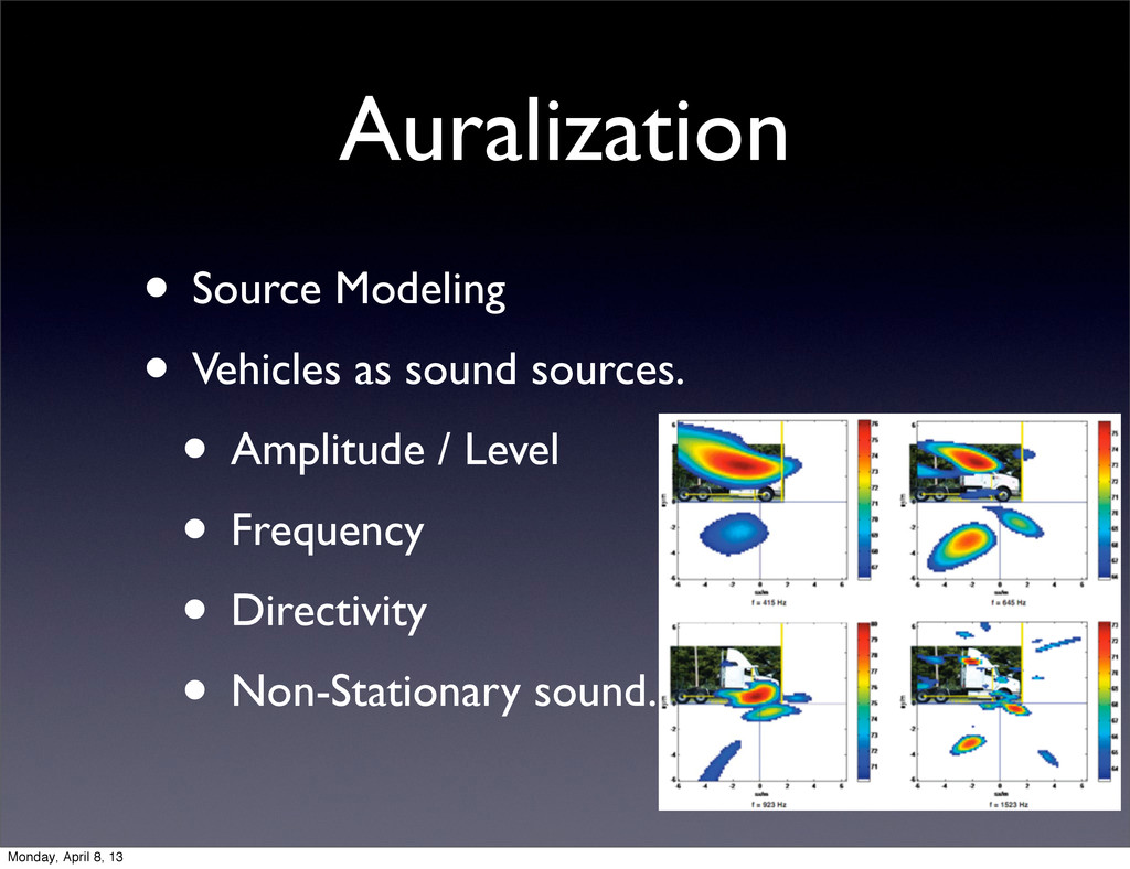 Auralization • Source Modeling • Vehicles as so...