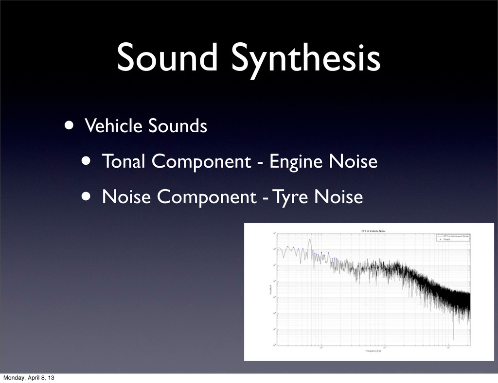 Sound Synthesis • Vehicle Sounds • Tonal Compon...