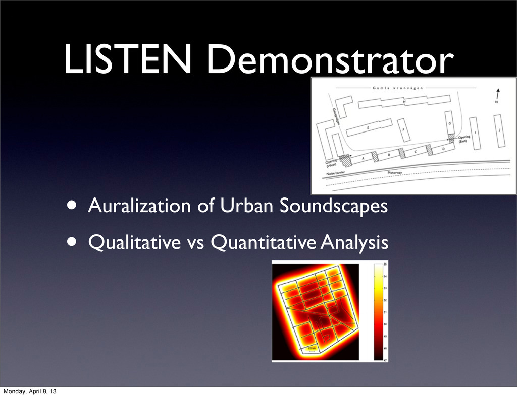 LISTEN Demonstrator • Auralization of Urban Sou...