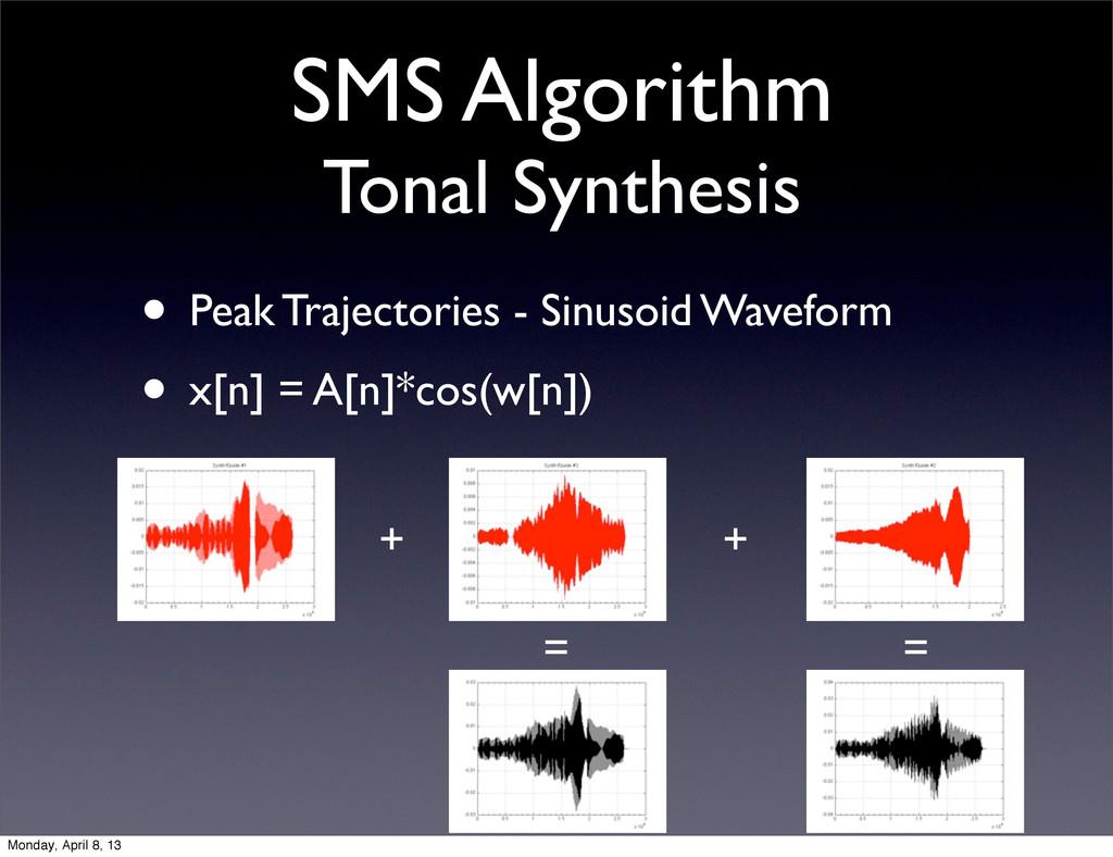 SMS Algorithm Tonal Synthesis • Peak Trajectori...