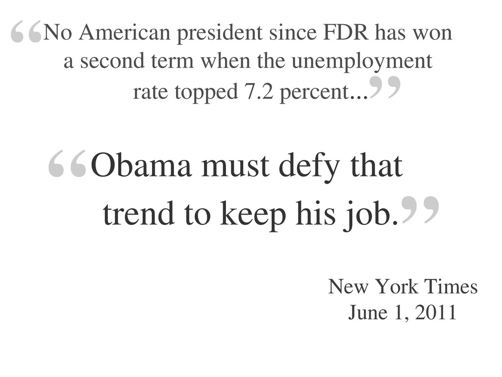No American president since FDR has won a secon...