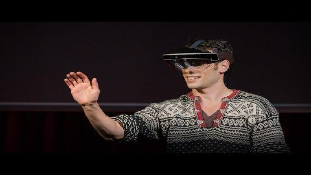 Meta AR demo at TED 2016 https://www.ted.com/ta...