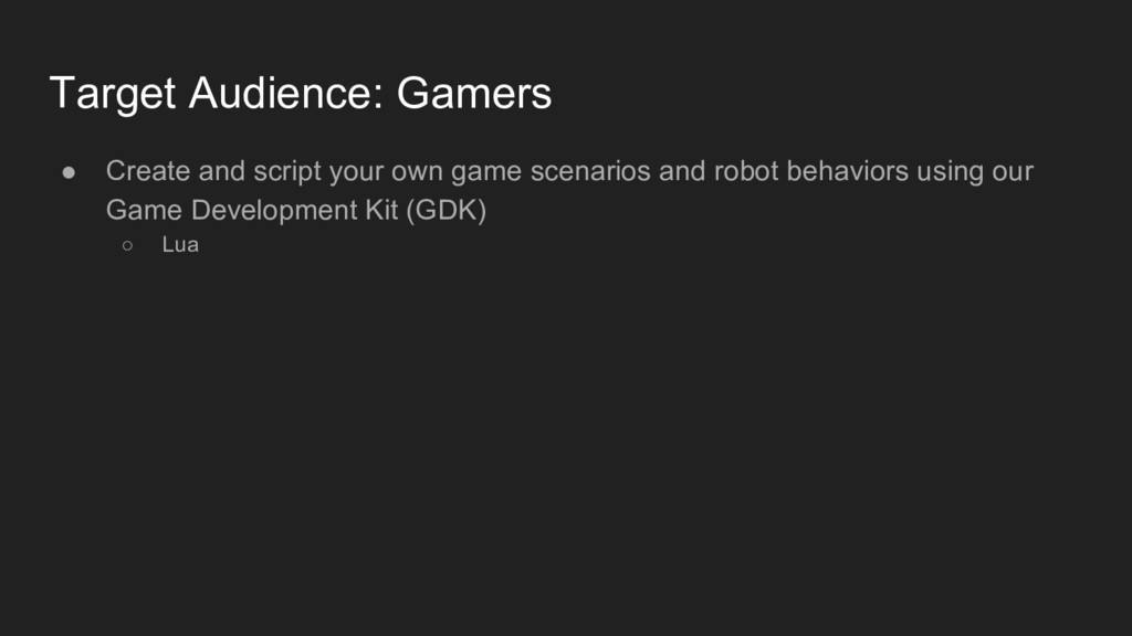 Target Audience: Gamers ● Create and script you...