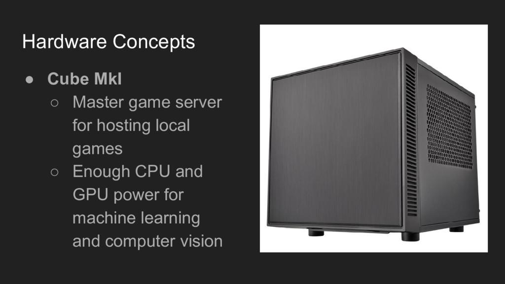 ● Cube MkI ○ Master game server for hosting loc...