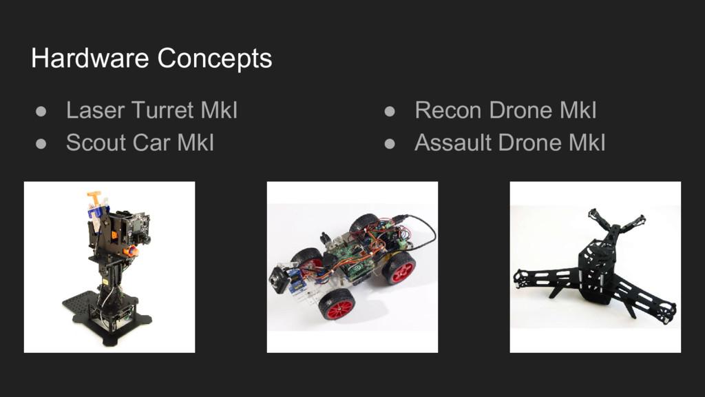 ● Laser Turret MkI ● Scout Car MkI Hardware Con...
