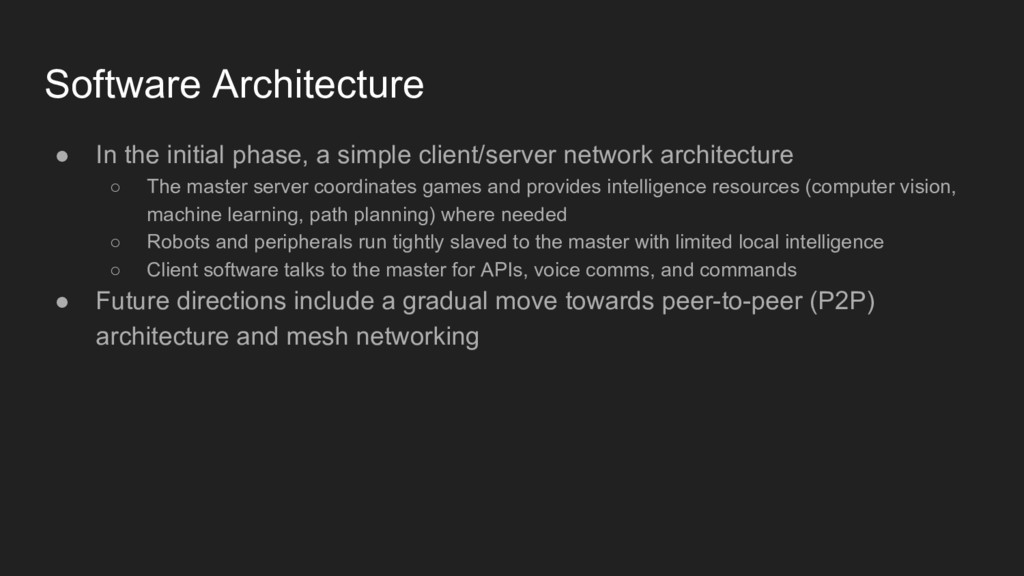 ● In the initial phase, a simple client/server ...