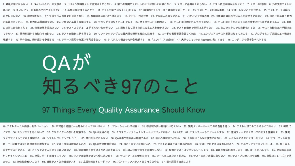 25 97 Things Every Quality Assurance Should Kno...