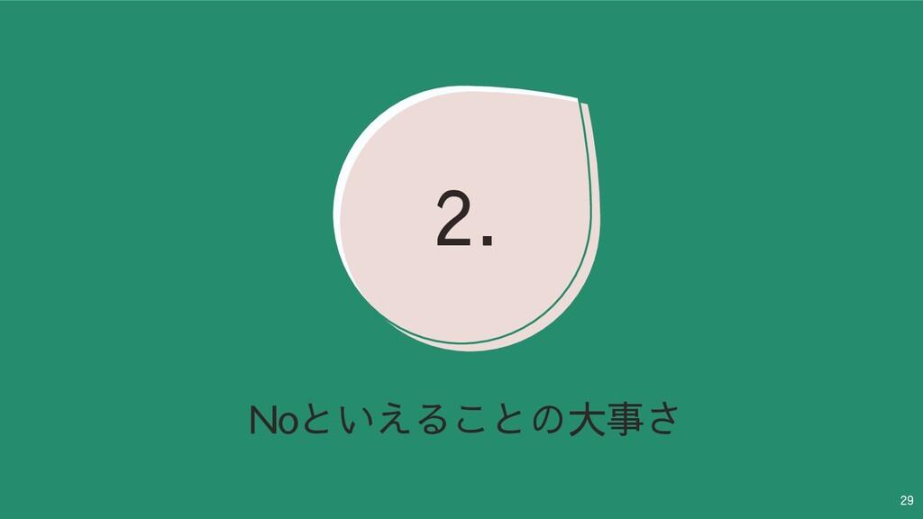29 Noといえることの大事さ 2.