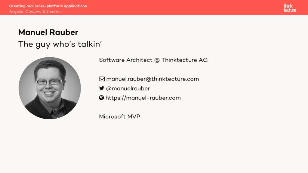 The guy who's talkin' Software Architect @ Thin...