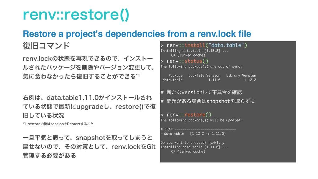 SFOWSFTUPSF   Restore a project's dependenci...