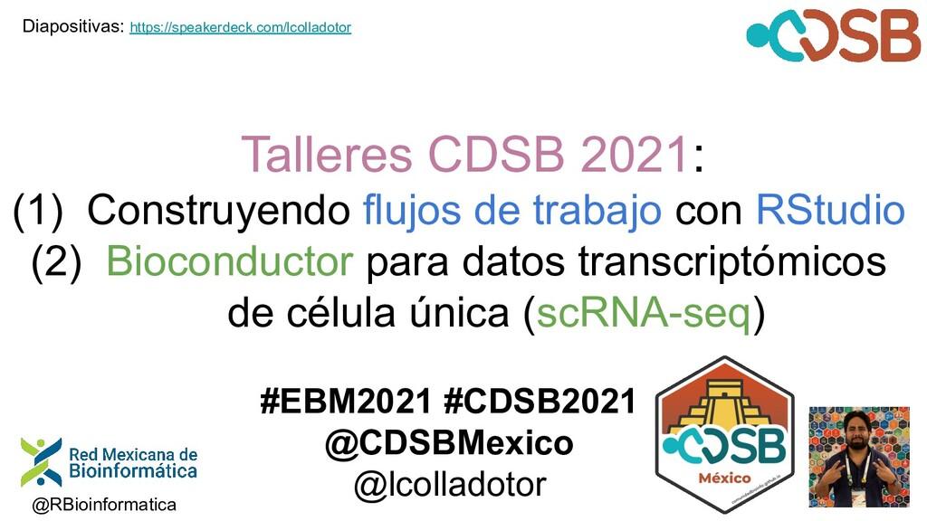 Talleres CDSB 2021: (1) Construyendo flujos de ...