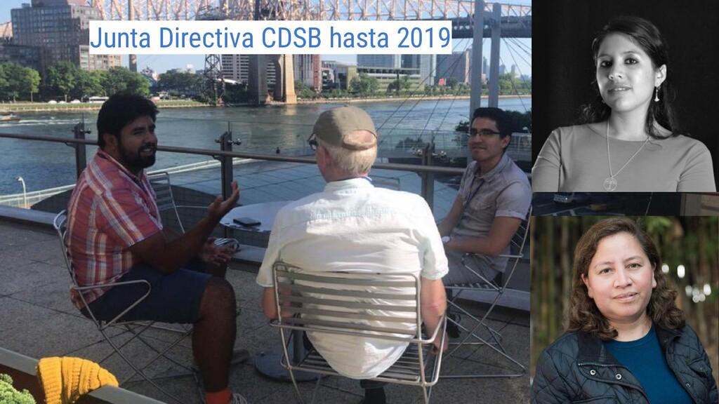 Junta Directiva CDSB hasta 2019