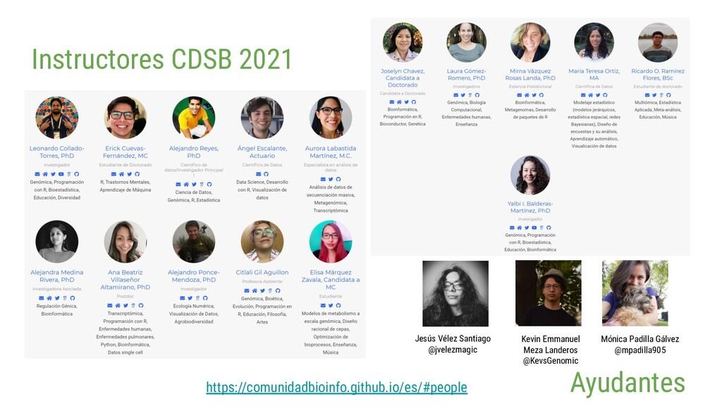Instructores CDSB 2021 https://comunidadbioinfo...