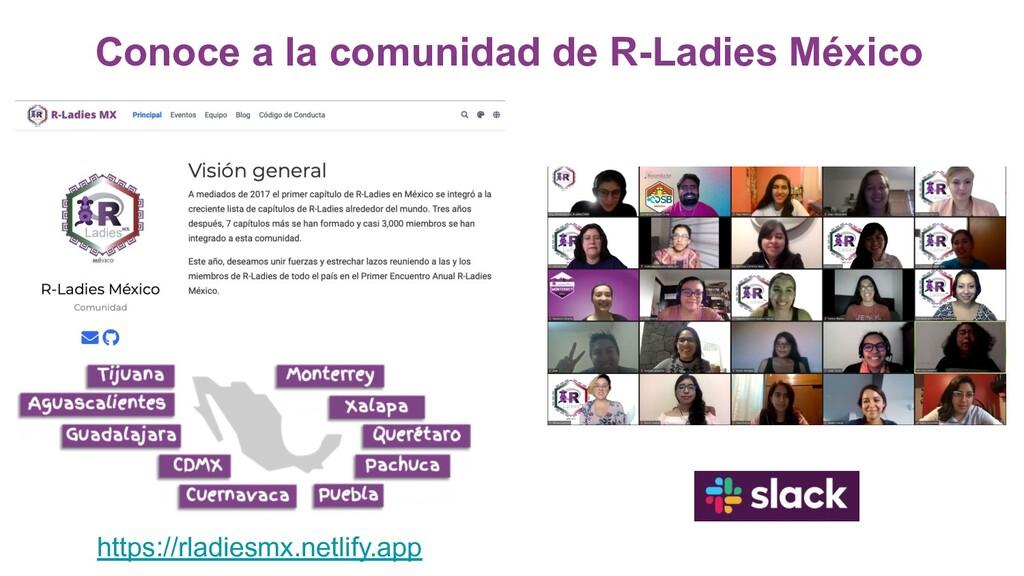 Conoce a la comunidad de R-Ladies México https:...