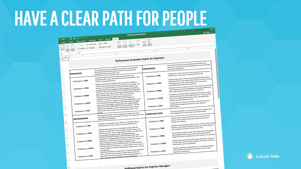 HAVE A CLEAR PATH FOR PEOPLE
