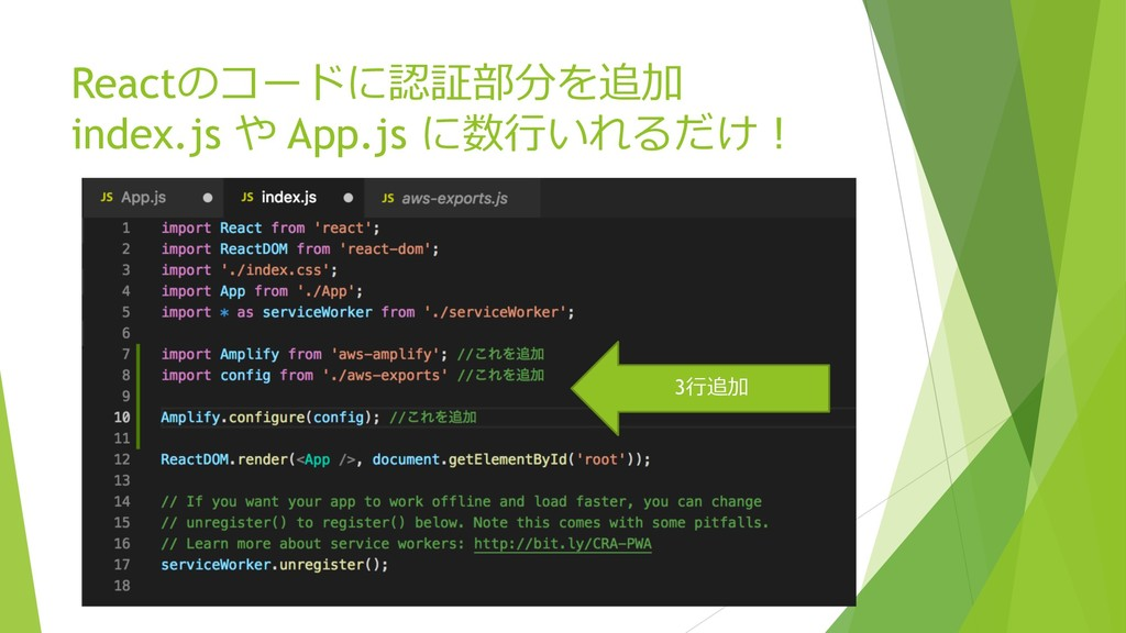 React index.js App.js   3
