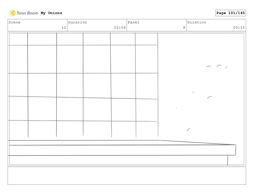 Scene 12 Duration 02:04 Panel 8 Duration 00:16 ...