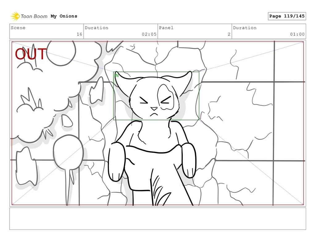 Scene 16 Duration 02:05 Panel 2 Duration 01:00 ...