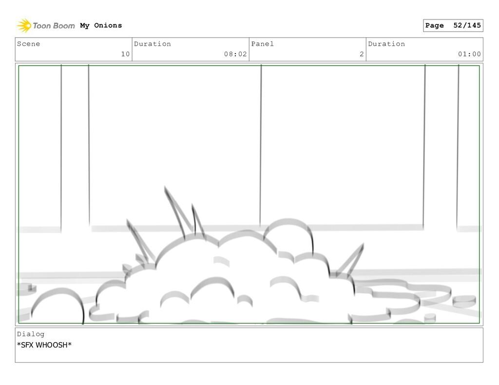 Scene 10 Duration 08:02 Panel 2 Duration 01:00 ...