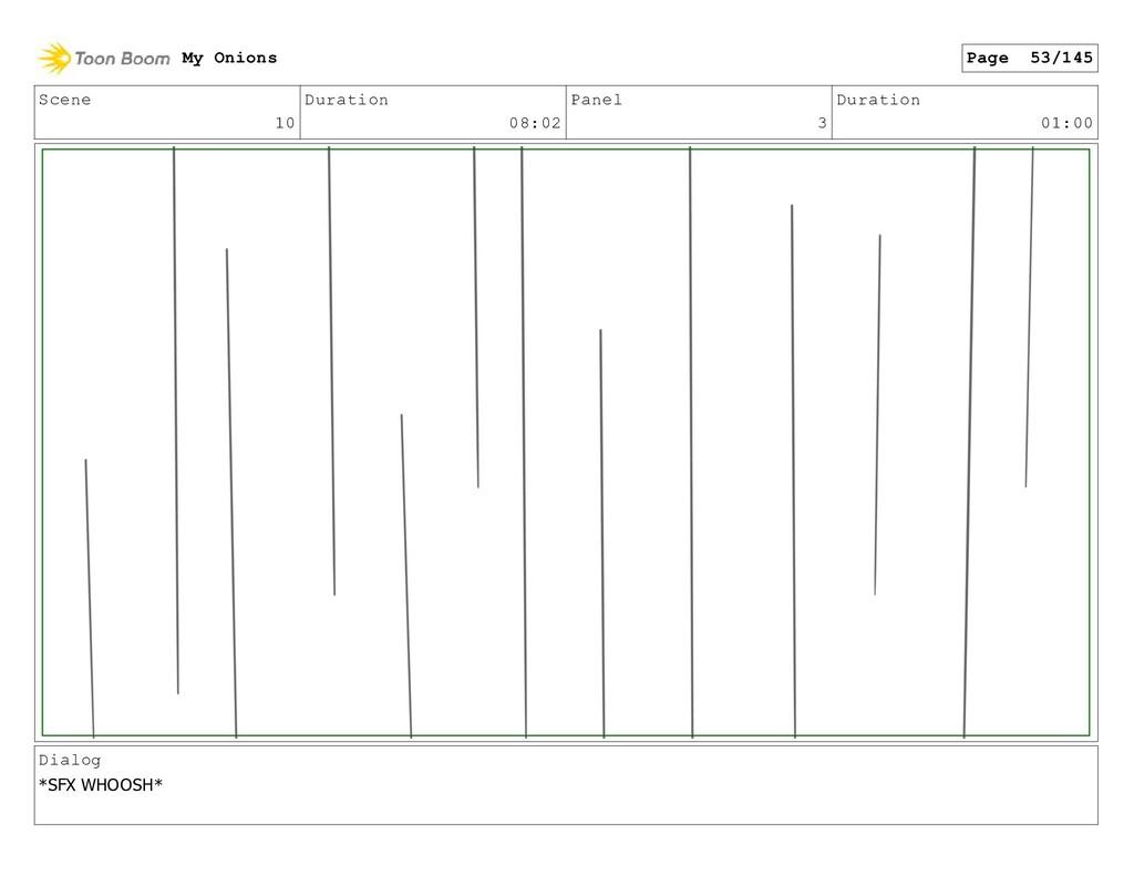 Scene 10 Duration 08:02 Panel 3 Duration 01:00 ...