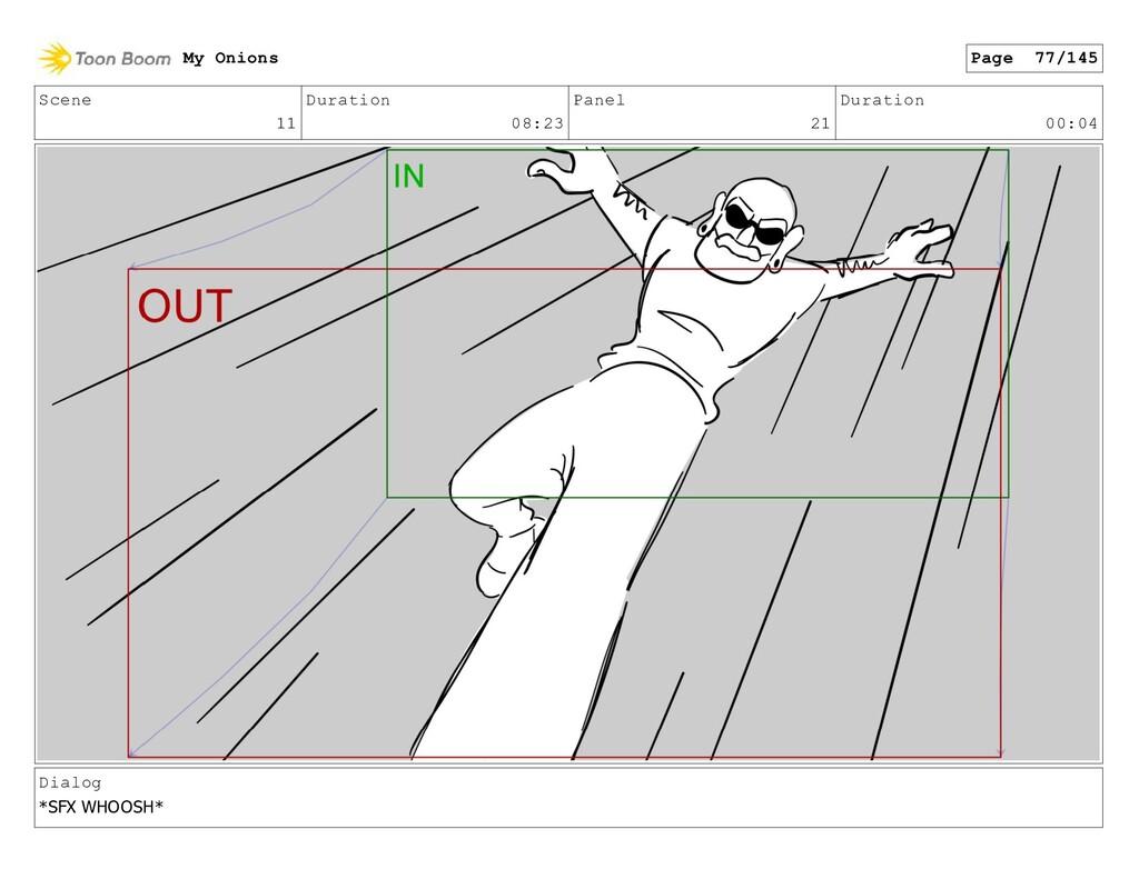 Scene 11 Duration 08:23 Panel 21 Duration 00:04...