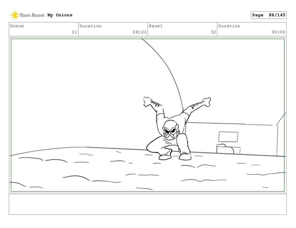 Scene 11 Duration 08:23 Panel 32 Duration 00:06...