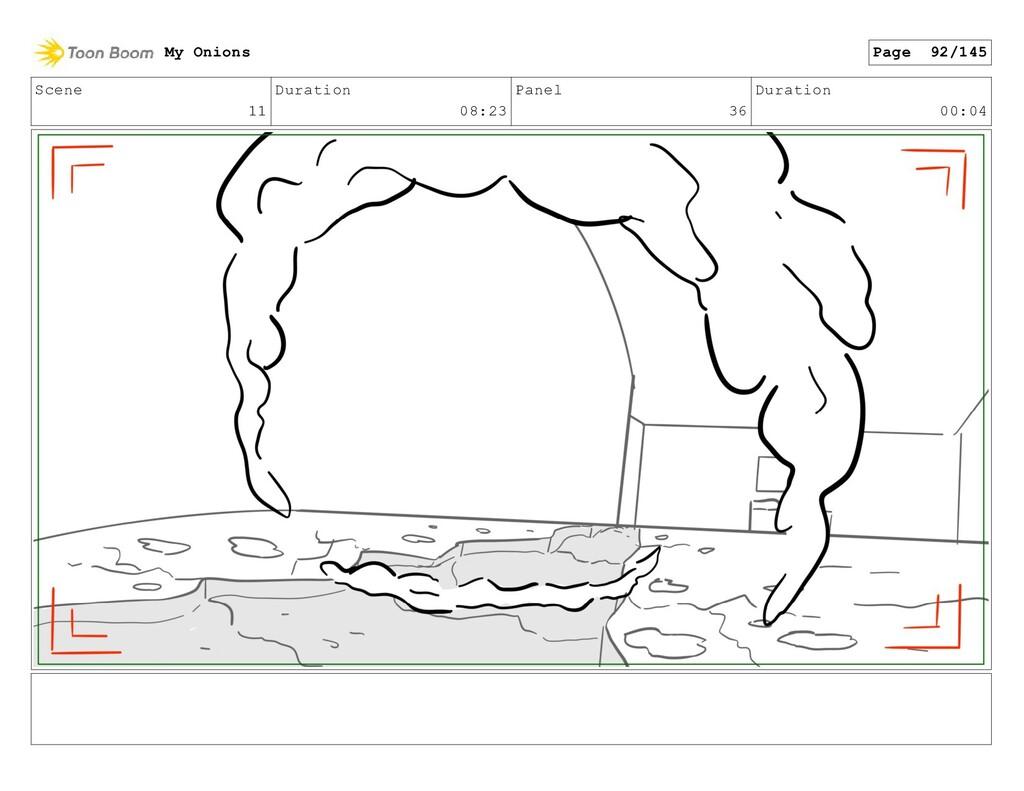 Scene 11 Duration 08:23 Panel 36 Duration 00:04...