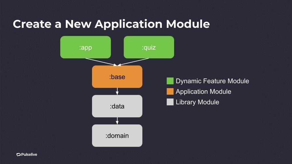 Create a New Application Module