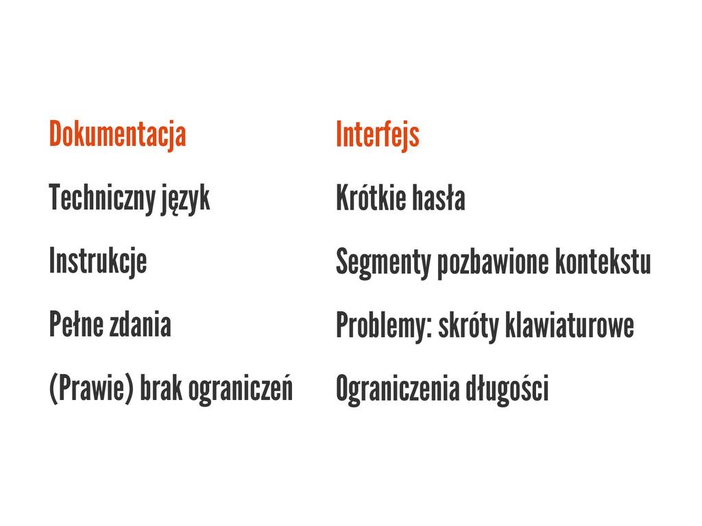 Dokumentacja Techniczny język Instrukcje Pełne ...