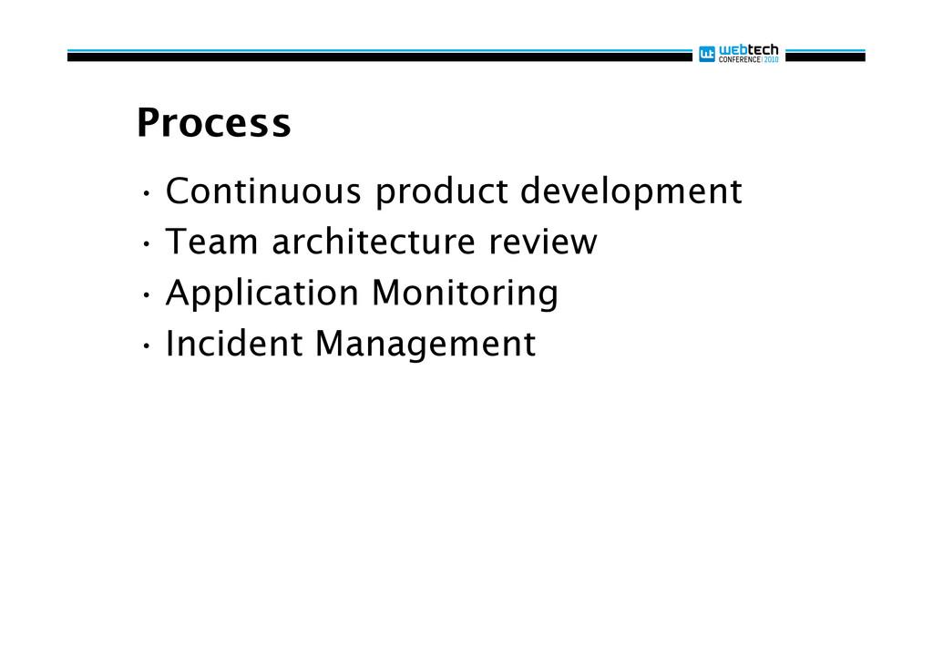 Process •Continuous product development •Team...