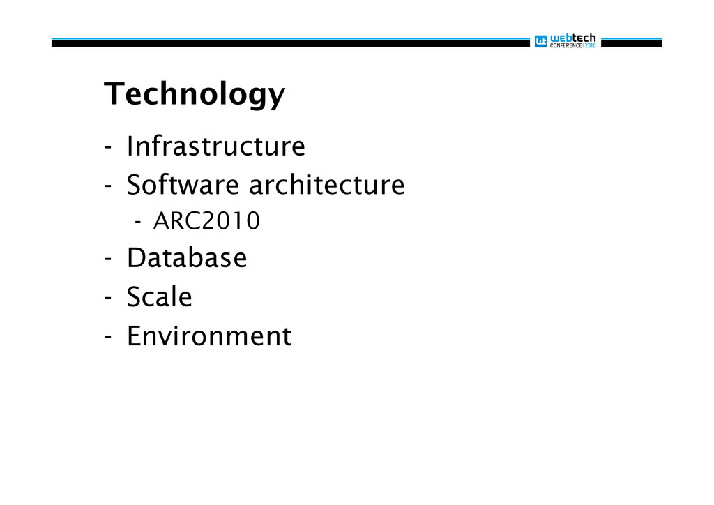 Technology - Infrastructure - Software archit...